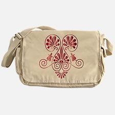 Namaste Henna Tattoo in Ruby Messenger Bag