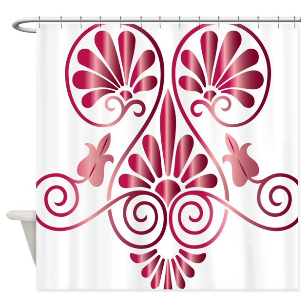 Namaste henna tattoo in ruby shower curtain by admin cp1580384 for How to shower with a new tattoo