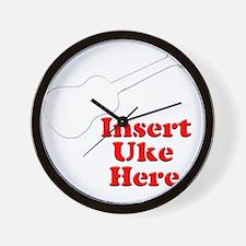 Insert Uke Here Wall Clock