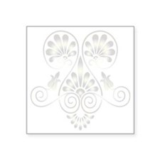 "Namaste Henna Tattoo Square Sticker 3"" x 3"""