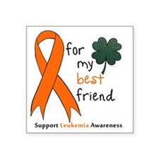 "Leukemia awareness pocket Square Sticker 3"" x 3"""