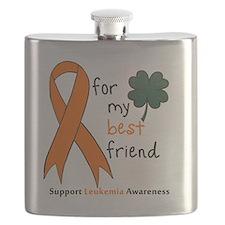 Leukemia awareness pocket Flask
