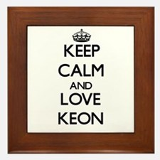 Keep Calm and Love Keon Framed Tile
