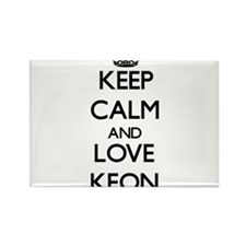 Keep Calm and Love Keon Magnets