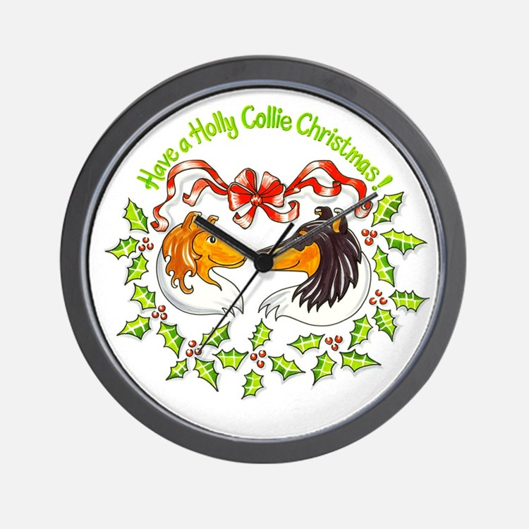 holly-collie.gif Wall Clock