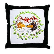 holly-collie.gif Throw Pillow
