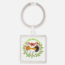 holly-collie.gif Square Keychain