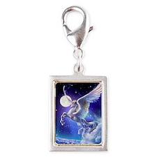 Kagaya-StarryTales-Pegasus Silver Portrait Charm