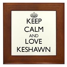 Keep Calm and Love Keshawn Framed Tile