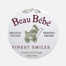 BeauBebe-plain Round Ornament