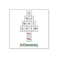 "ValueTshirt_Ochemistry_FRON Square Sticker 3"" x 3"""