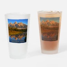 Tetons2 Drinking Glass