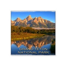 "Tetons2 Square Sticker 3"" x 3"""