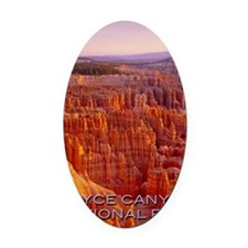 bryce Oval Car Magnet
