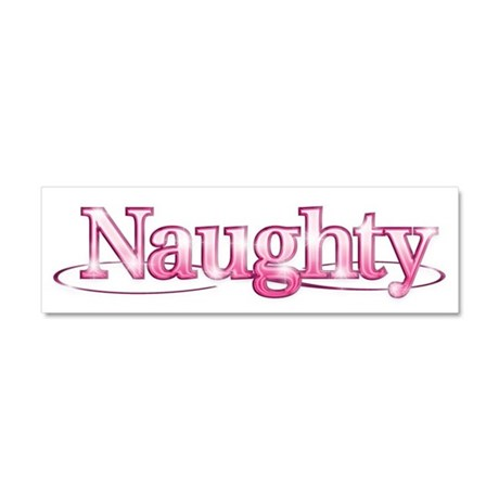 naughty Car Magnet 10 x 3