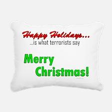 happyholidaysterrorists- Rectangular Canvas Pillow