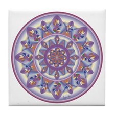 LILAC FLOWER-2 copy Tile Coaster