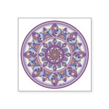 "LILAC FLOWER-2 copy Square Sticker 3"" x 3"""