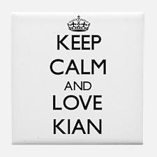 Keep Calm and Love Kian Tile Coaster