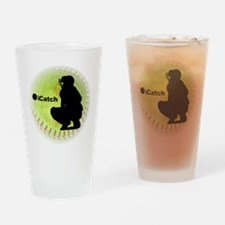 iCatch Fastpitch Softball Drinking Glass