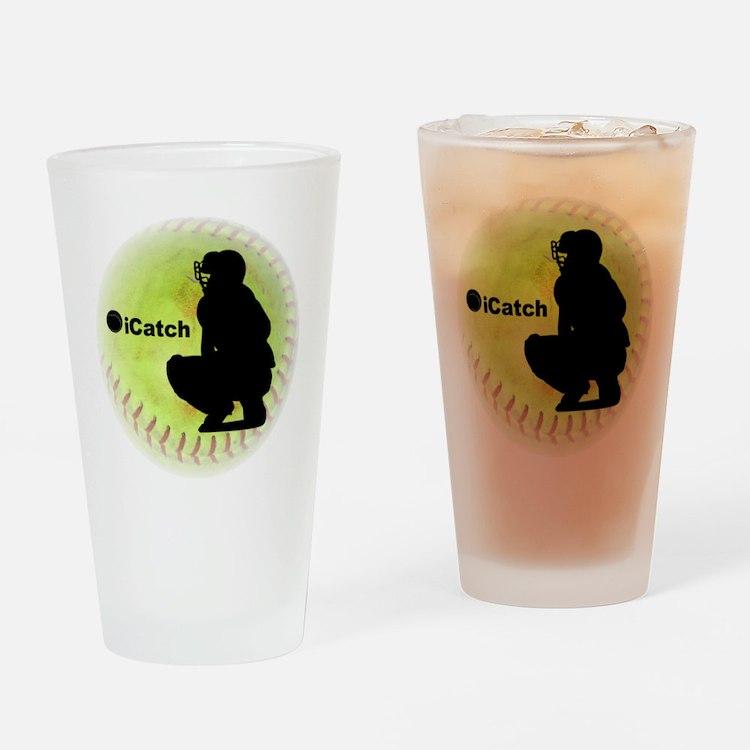iCatch Fastpitch Softball Drinking Glass