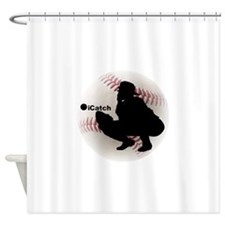 iCatch Baseball Shower Curtain