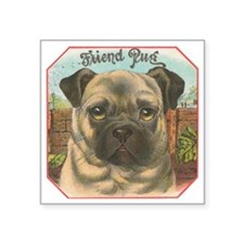 "Pugmania Square Sticker 3"" x 3"""