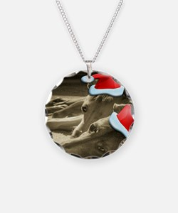 Christmas Italian Greyhounds Necklace