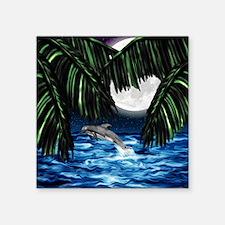"Moonlit Paradise 11x11_pill Square Sticker 3"" x 3"""