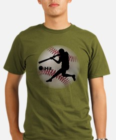 iHit Baseball Organic Men's T-Shirt (dark)