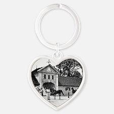 Crabbet_stableBWtext Heart Keychain