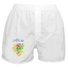 Alicia_floral_monotype Boxer Shorts