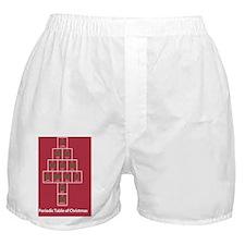 PostCard_PeriodicXmas_RedGreen_FRONT Boxer Shorts