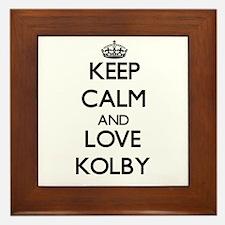 Keep Calm and Love Kolby Framed Tile