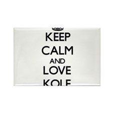 Keep Calm and Love Kole Magnets