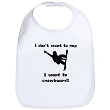 I Want To Snowboard Bib