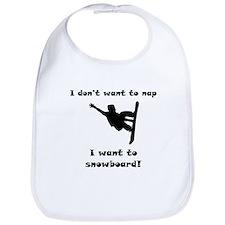 I Want To Snowboard Bib