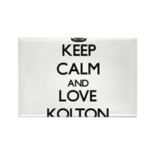 Keep Calm and Love Kolton Magnets