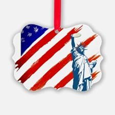 statue of liberty w flag new Ornament