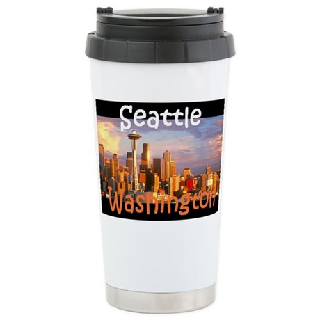 Seattle Stainless Steel Travel Mug