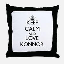 Keep Calm and Love Konnor Throw Pillow