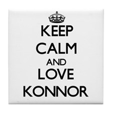 Keep Calm and Love Konnor Tile Coaster