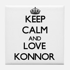 Keep Calm and Love Konnor Tile Coaster