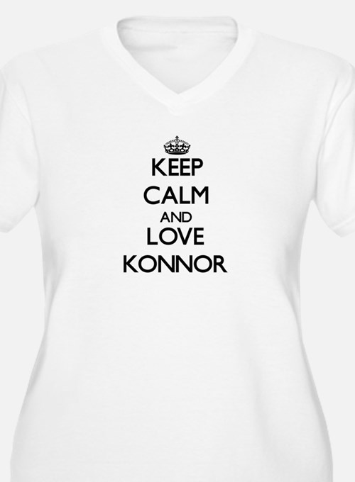 Keep Calm and Love Konnor Plus Size T-Shirt