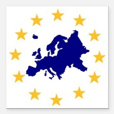 "europe_stars Square Car Magnet 3"" x 3"""