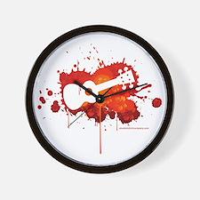 Ukulele Splash Red Wall Clock