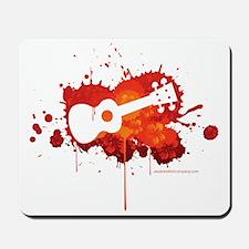 Ukulele Splash Red Mousepad