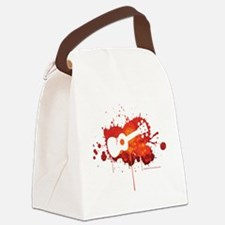 Ukulele Splash Red Canvas Lunch Bag