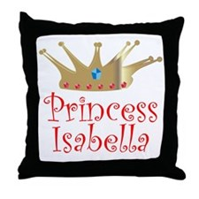 Princess Isabella stocking tr Throw Pillow