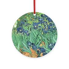 Irises, 1889 by Vincent Van Gogh Round Ornament